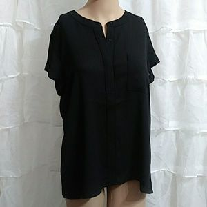 New SIMPLY VERA VERA WANG Short Sleeve Blouse